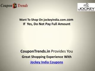 Jockey India Coupons