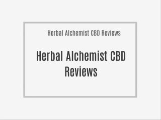 Discover Effective Herbal Alchemist CBD Cannabidiol Pills!