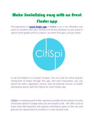 Dubai hotel search app-Citispi