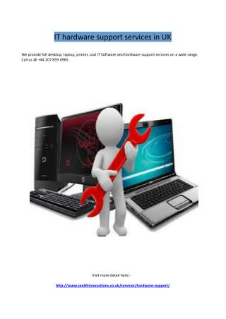 IT hardware support services in UK