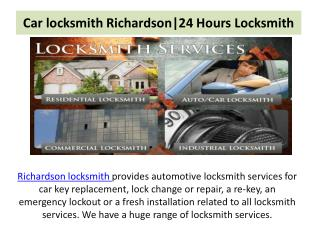 Car locksmith Richardson|24 Hours Locksmith