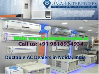 Ductable AC Dealers in Noida, India Call 9818934934