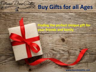 Buy Gifts for all Ages from Music Box Attic