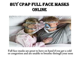 Buy CPAP Full Face Masks Online