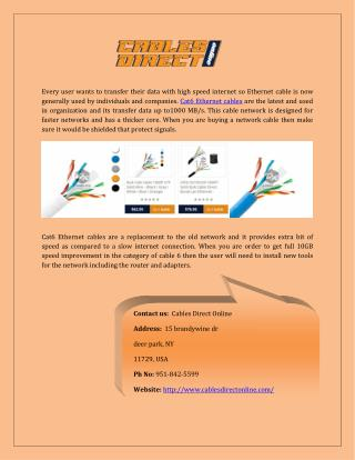Get Cat6 Ethernet Cable of Your Choice