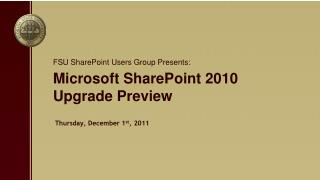Microsoft SharePoint 2010 Upgrade Preview