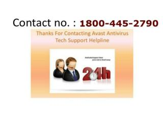 1800 445 2790 avast antivirus helpline number
