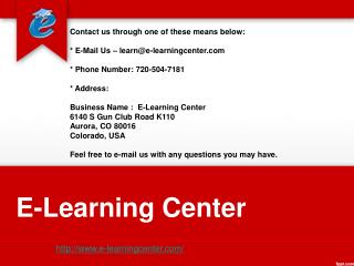 Excel Courses Online - E-Learning Center