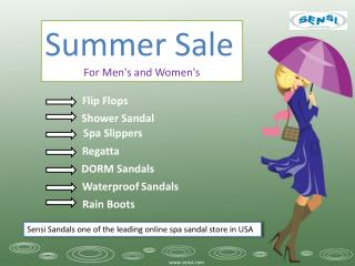 Summer Fashion Sale - Sensi Sandals