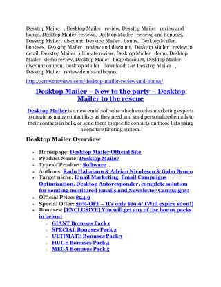 Desktop Mailer Review - Desktop Mailer DEMO & BONUS