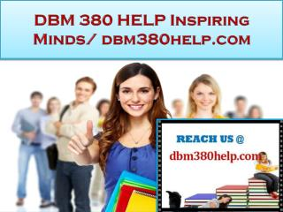 DBM 380 HELP NEW Real Success /dbm380help.com