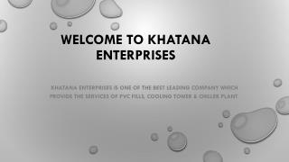 Cooling tower Maintenance Services|Khatana Enterprises