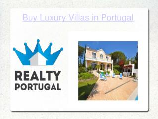 Buy Luxury Villas in Portugal
