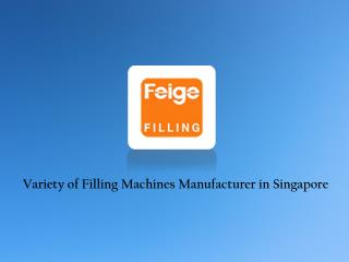 Filling Machines Manufacturer