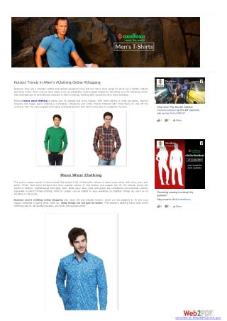 Sale on men clothing - Get affordable mens wear online
