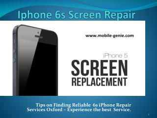 Iphone 6s Screen Repair in Oxford And Near By Counties