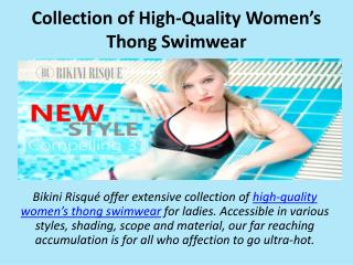 Collection of High-Quality Women's Thong Swimwear