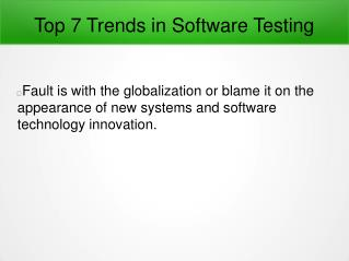 Top 7 Trends in Software Testing Domain