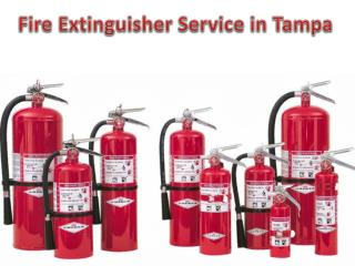 Fire Extinguisher Service in Tampa
