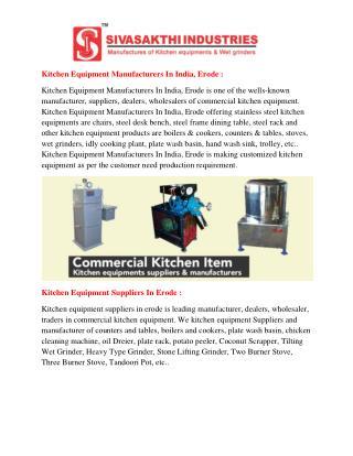 kitchen equipment manufacturers in india,erode | commercial kitchen equipment manufacturers in india,erode | commercial