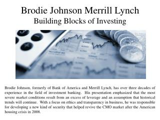 Brodie Johnson Merrill Lynch - Building Blocks of Investing