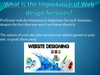 Importance of Web design Services?