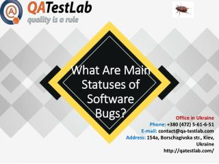 What Are Main Statuses of Software Bugs?