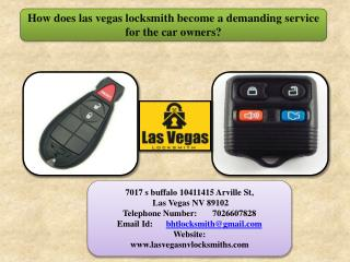 How does las vegas locksmith become a demanding service for the car owners?