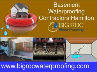 Basement Waterproofing Contractors Hamilton