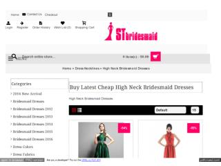 High Neck Bridesmaid Dresses Under 100