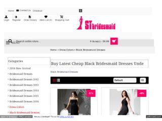 Black Bridesmaid Dresses Under 100