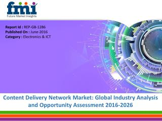 Content Delivery Network Market to expand at a CAGR of 20.5%, by 2020