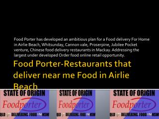 Restaurants that deliver near me Food in Airlie Beach