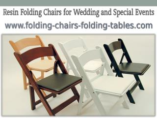 Resin Folding Chairs for Wedding and Special Events