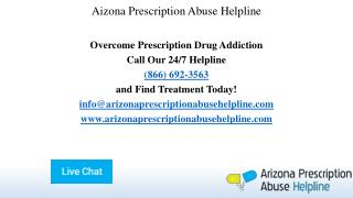 Aizona Prescription Abuse Helpline