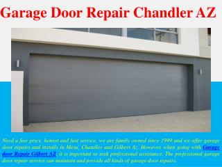 Garage Door Repair Chandler AZ