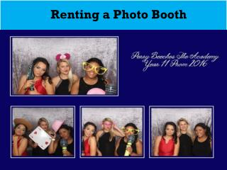 Renting a Photo Booth