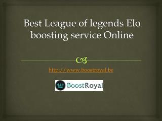 Best League of legends Elo boosting service Online