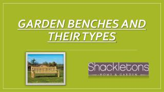 Garden Benches and their Types