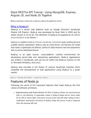 Node Js, AngularJs and Express Js Tutorial