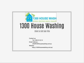 1300 House Washing