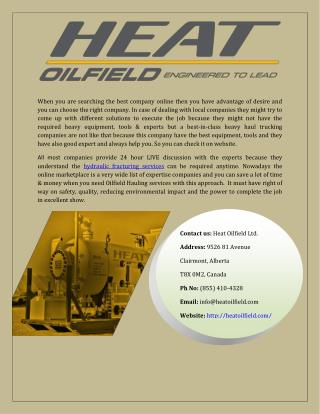 Hydraulic Fracturing Services - Heat Oilfield