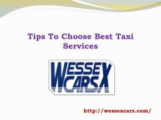 Tips To Choose Best Taxi Services