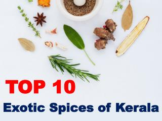 Top 10 Exotic Spices of Kerala