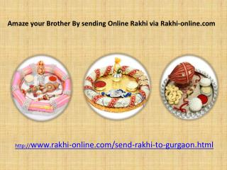 Spread your Love by sending Online Rakhi to your brother in Gurgaon