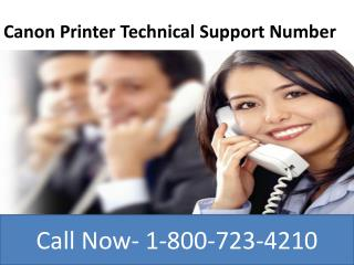 Canon printer technical support 1 800-723-4210