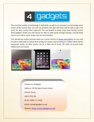 Buy Cheap Used Tablets Online