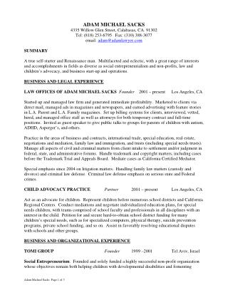 Adam Michael Sacks - Resume
