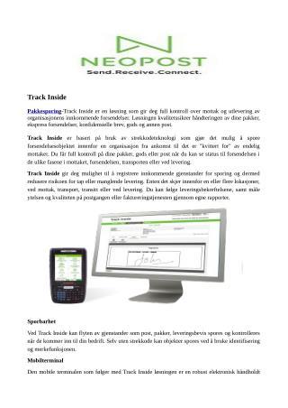 Neopost-Frankering & Ditt eget postkontor