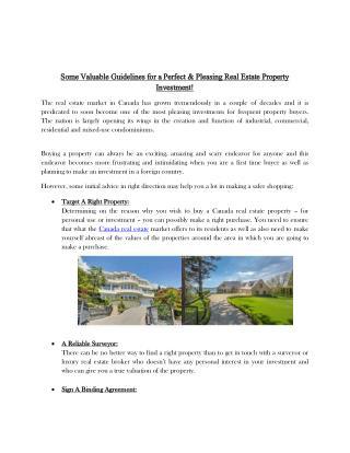 Canada real estate properties